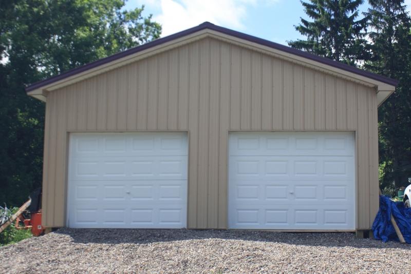 Pole barn-style garage